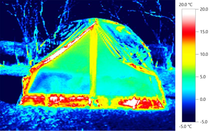 open tent close - thermal